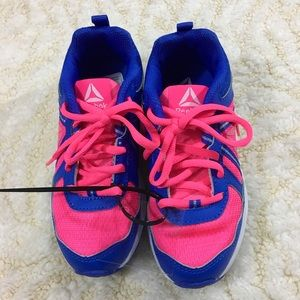 Reebok pink and blue sneakers girls' size 13